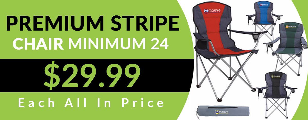 Premium Stripe Chair | Promo Item